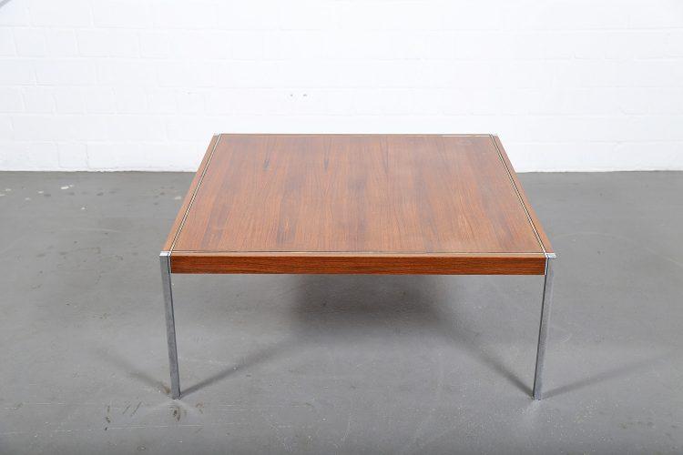Richard Schultz Knoll International Coffee Table Mod 3454 Rosewood Chrome 60s Design