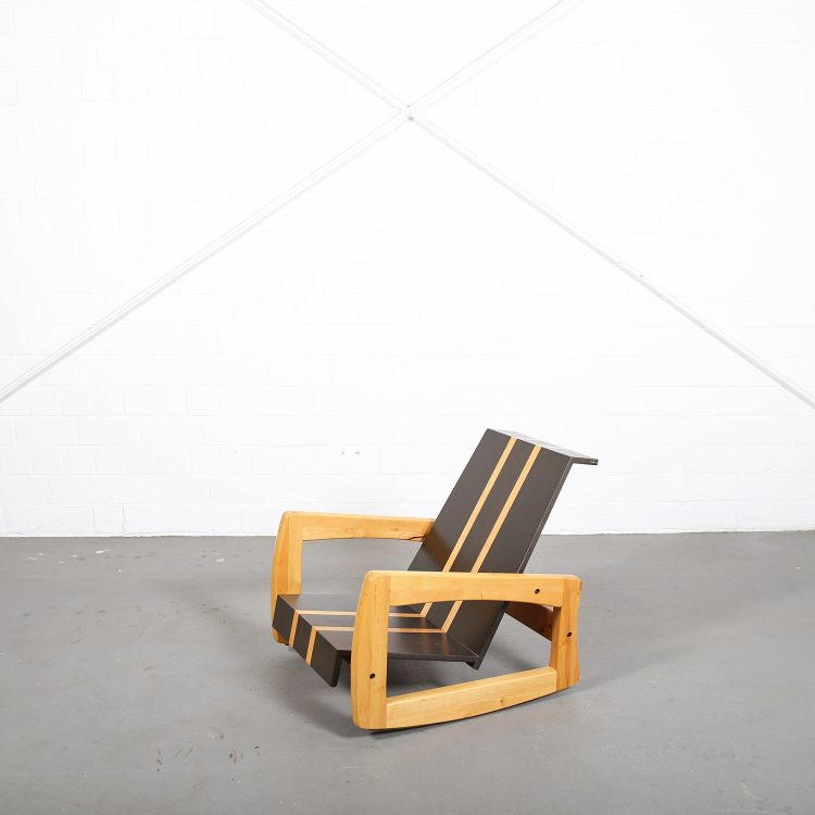 Sculptural Rocking Chair Schaukelstuhl Surfboard Design 70s Skateboard Vintage